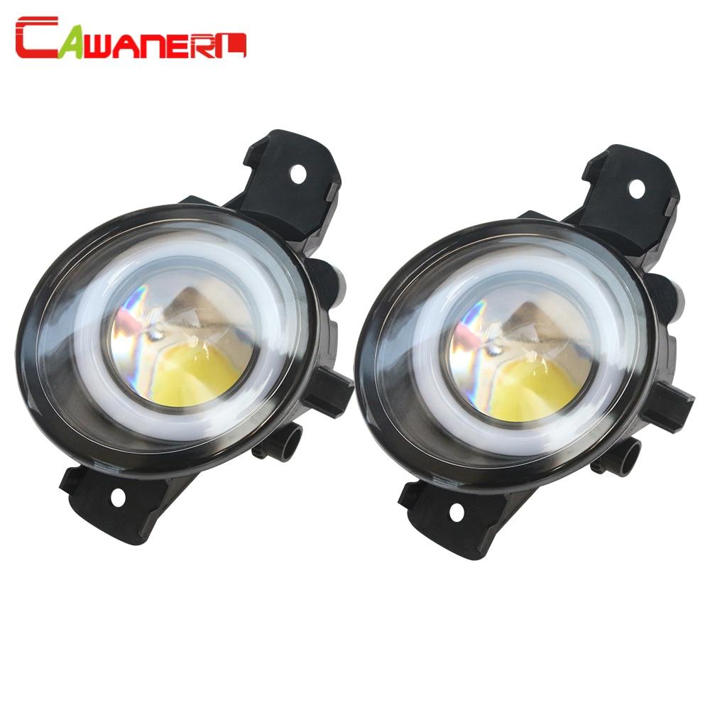 Cawanerl Автомобильный светодиодный фонарь для Renault Master 3/III 2010 2015, 3 лм, противотуманный светильник Angel Eye, дневные ходовые огни, DRL H11, 12 В, 2 шт.