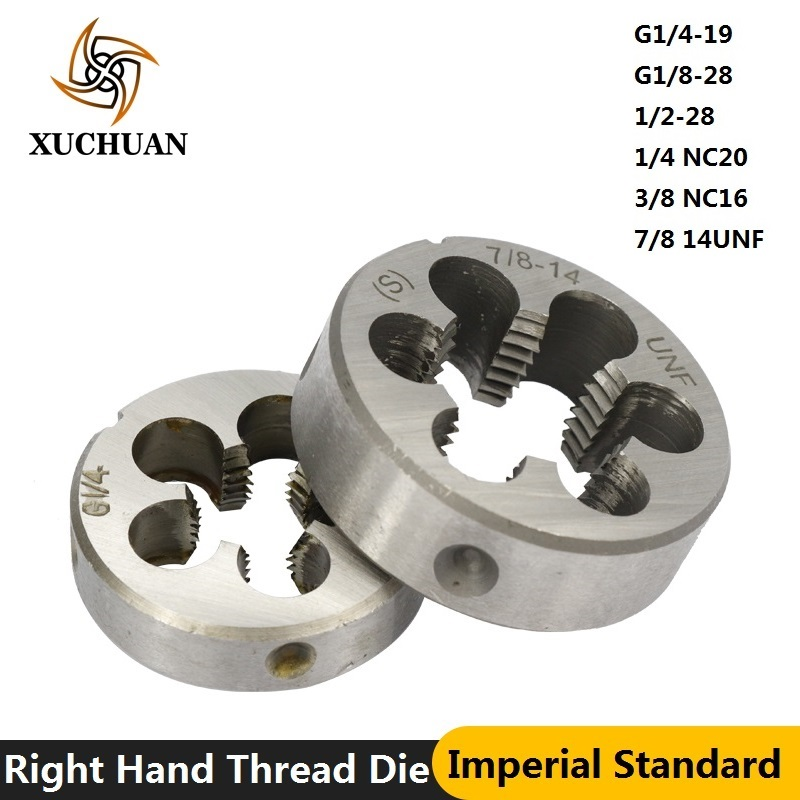 1pc Right Hand Thread Die Machine Screw Die G1/4-19 G1/8-28 1/4 NC20 3/8 NC16 7/8 14UNF 1/2-28 UNEF