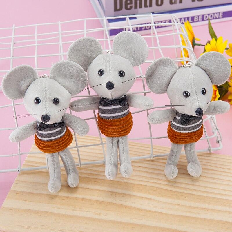 Horizontal Striped Mouse Plush Children's Doll Bag Pendant Key Pendant Ornament Stuffed Toy