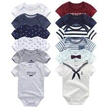 6 шт./лот; Одежда для новорожденных; Одежда для девочек и мальчиков с короткими рукавами; Хлопковые комбинезоны; Комбинезоны; Roupas de bebe