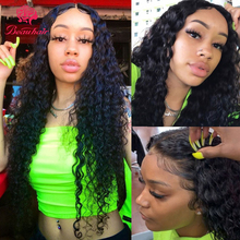цена на Kinky Curly Lace Front Wig human hair wigs Brazilian Human Hair Wigs Kinky Curly 13x4 Lace Frontal Wigs For Women