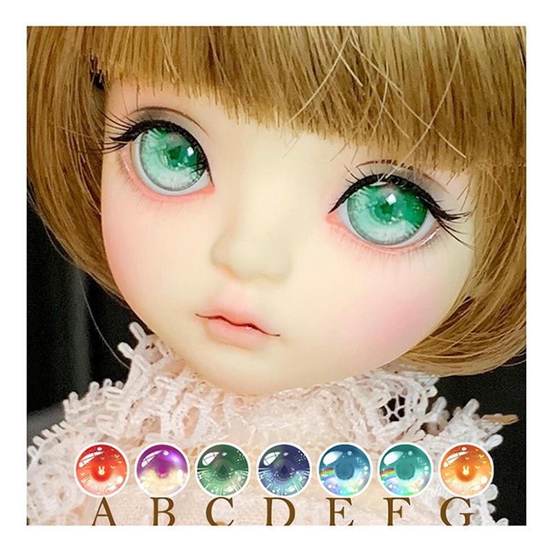1//8 BJD DOLL Fairy Iris Mini BJD Ball Jointed Doll Eyes Free Face Make up Eyes