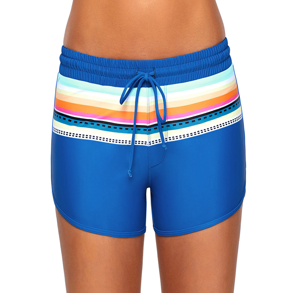 Pa Meng Europe And America Pure Color Bikini Adjustable Sling Containing Triangular Lining Short Four Corners Swimming Trunks 41