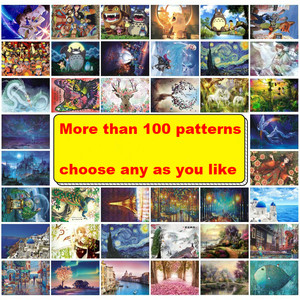 1000 Pieces Adult Puzzle Kids Jigsaw Landscape Wooden Puzzles Educational Toys For Children animation pairing Puzzles Gift(China)