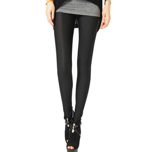 Image 3 - Polyester Casual Leggings For Women High Elastic Material Black Fiteness Pencil Leggins Pants Streetwear Legging Plus Size