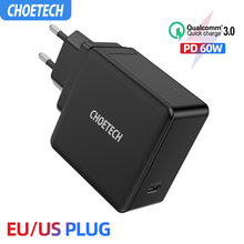 Choetech PD 60W USB-C Dinding Charger untuk MacBook Pro/Air iPad Pro Samsung Asus Acer Dell Tablet Charger QC 3.0 untuk Nintendo Switch(China)