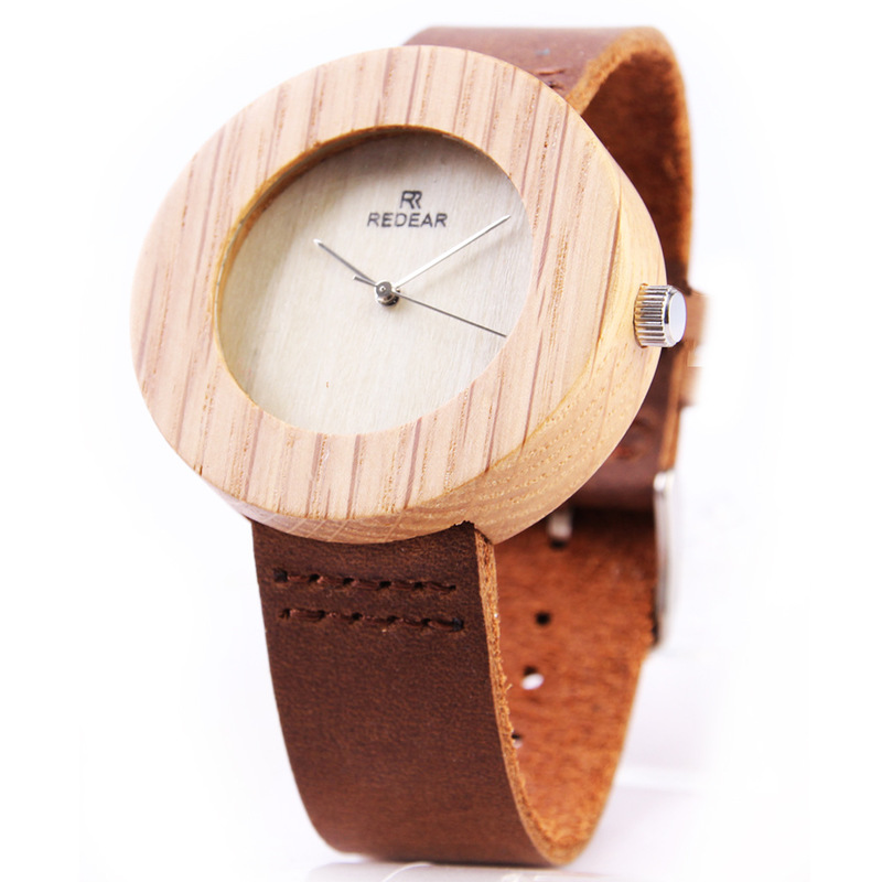 2020 New Arrival Rui Deere Disc Contracted Maple Ladies Watch Fashion Hot Style Wooden Wrist