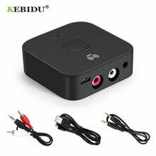 KEBIDU NFC Bluetooth 5.0 Ontvanger NFC 3.5mm AUX 2RCA Jack Hifi Draadloze Adapter 3.5 Audio Receiver Auto Op/ OFF Bluetooth Adapter