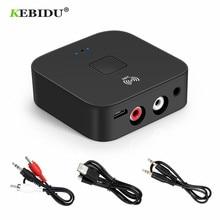 KEBIDU NFC Bluetooth 5.0 Receiver NFC 3.5mm AUX 2RCA Jack Hifi Wireless Adapter 3.5 Audio Receiver Auto On/OFF Bluetooth Adapter