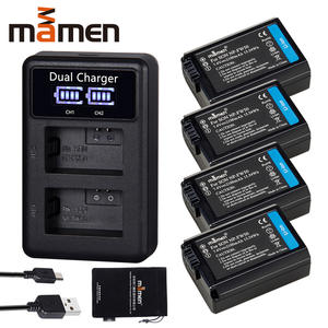 4pcs 2100mAh NP FW50 NP-FW50 NPFW50 Digital Camera Battery + LCD Dual Charger for Sony NEX-3 a7R a6500 a6300 a6000 a5000 a3000