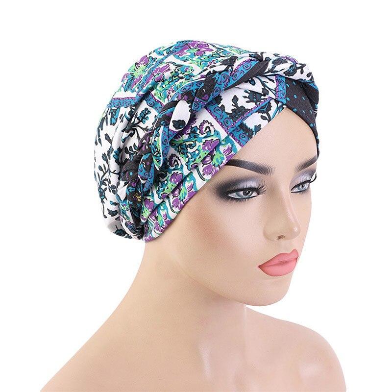 Купить новая оплетка головной убор шапки печать твист платок рак химиотерапия