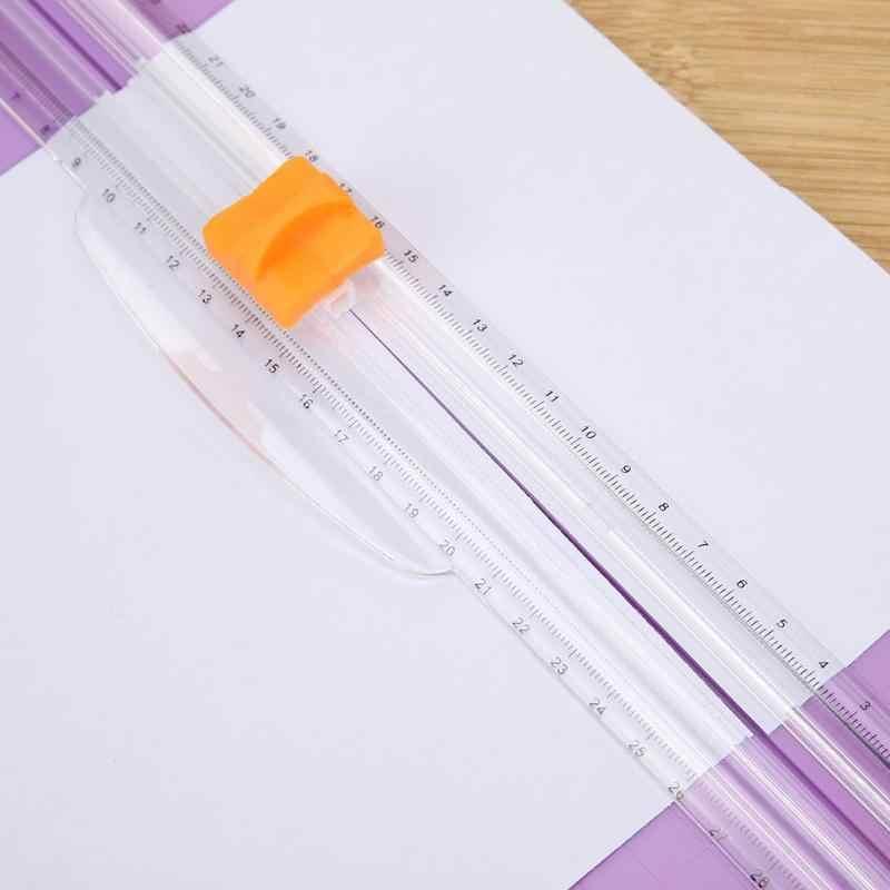 Taşınabilir A5 Hassas Kağıt Kartı Kesme Bıçak Sanat Giyotin Fotoğraf Kesici Mat