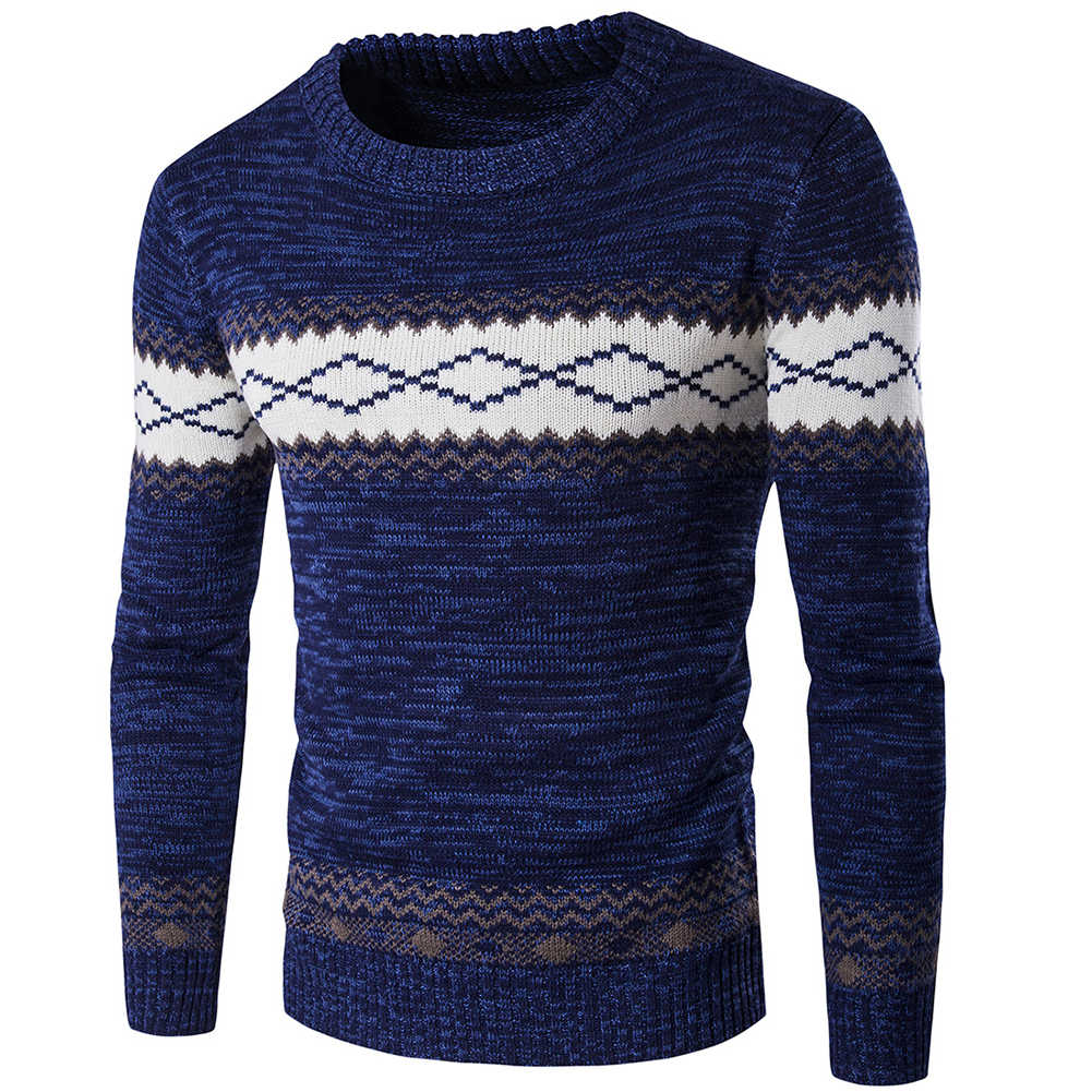 Pulôver masculino roupas de marca 2019 outono inverno camisola masculina casual listrado pull jumper