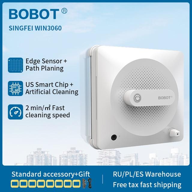 BOBOT Robot do mycia okien, odkurzacz, myjka do szyb, do użytku domowego, 2500 pa, siła ssania, nie spada
