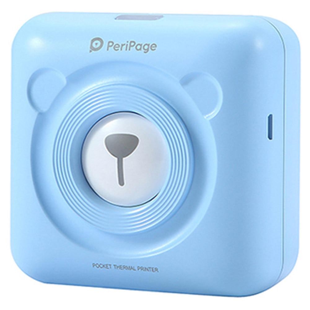 PAPERANG P2 портативный мини-принтер термальный Bluetooth принтер беспроводной термальный фото телефон подключение 300 dpi 1000 мАч Ba - Цвет: PAPERANG  blue