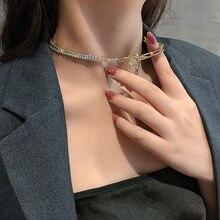 Sncsdk 2020 тренд Циркон шить геометрическое женское ожерелье