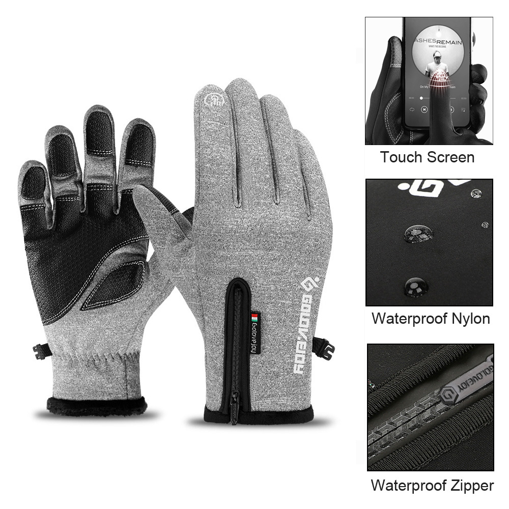 New Women Men Insulated Gloves Outdoor Warm Thermal Riding Skiing Waterproof US
