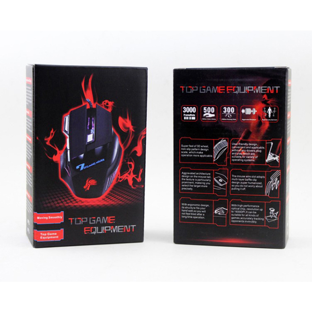VODOOL USB Wired Gaming Mouse 7 Buttons 5500 DPI Adjustable LED Backlit Optical Computer Mouse Gamer Mice For PC Laptop Notebook 6
