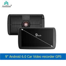 Anfilite 9 Inch Android Auto Dvr Gps Navigatie Dash Cam Camera Wifi Car Video Recorder Navigators Sat Nav Gratis Kaarten