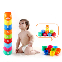 Toy Tower-Toy Montessori Stacking-Ring Science-Education Hourglass Bathtub Christmas-Gift