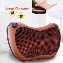 Vibrator Massage Pillow Electric Infrared Neck Massage Shiatsu Cushion Massager Neck Back Waist Body Heating Kneading Massage недорого
