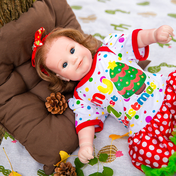Hoomai New Christmas Maddie 50CM Soft Silicone Doll Cloth Body Reborn Baby Girl Toys For Children Christmas Gift  Baby new style soft baby doll gift 22 inch silicone baby dolls realistic doll reborn gift for children play house toys with dress