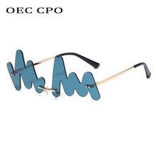 Oec cpo индивидуальные волнистые солнцезащитные очки без оправы