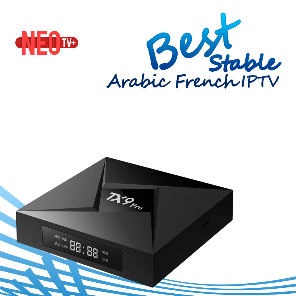 Best French Arabic Spain Benelux IPTV Abonnement With TX9 Pro Android 7.1 Smart Tv Box Amlogic S912 Octa core 2G/16G Set Top Box(China)
