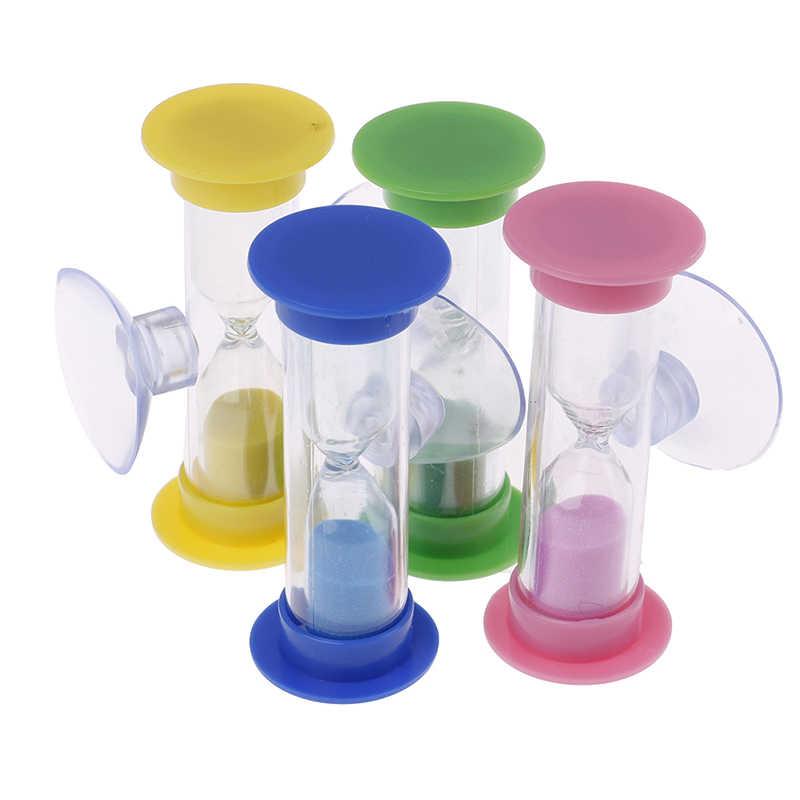 2 minutos MiNi reloj de arena de cristal para dientes Gadget cepillo de dientes giratorio arena temporizador de ducha Multicolor niños reloj de arena