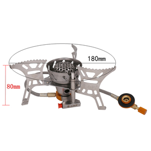 Image 4 - Portable Windproof Camping Gas Stove Outdoor Cooking Stove Foldable Split Burner with Gas Conversion Head Adapter