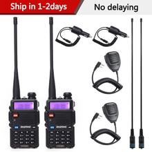 1/2 adet Baofeng UV 5R Walkie Talkie profesyonel CB radyo radyo Baofeng UV5R telsiz 5W VHF UHF taşınabilir avcılık amatör radyo