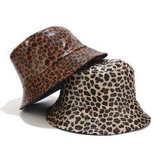 Модная женская панама с леопардовым принтом весна осень искусственная