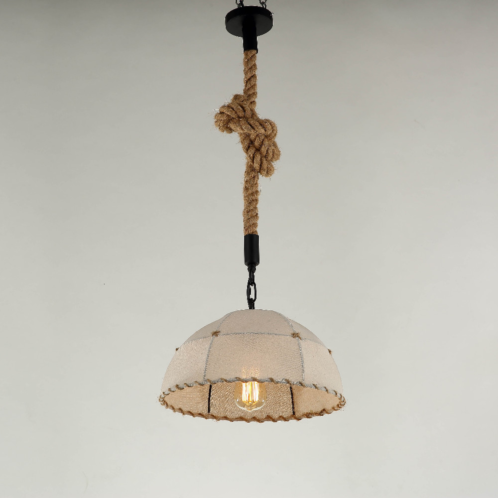 vintage Hand Knitting lamp pendant lights fixture hemp rope lampshade E27 holder for kitchen light lampe deco dining room