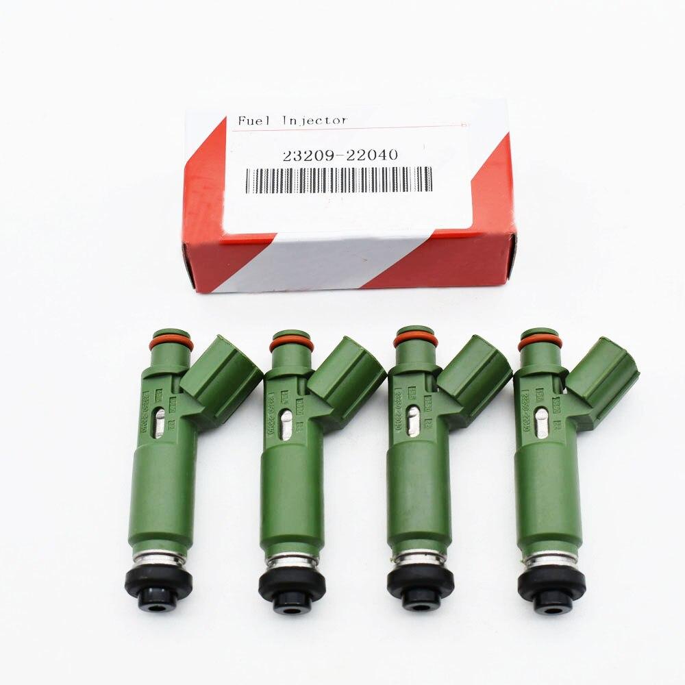 4 sztuk/partia nowe wtryskiwacze paliwa 23250-22040 23209-22040 wtryskiwacze dla Toyota z kolorowym opakowanie