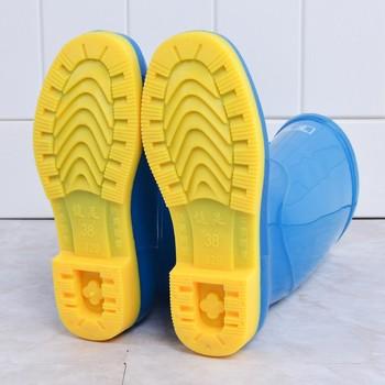Rain shoes women's high barrel warm antiskid and wear-resistant labor protection market solid color rain boots PVC water shoes 1