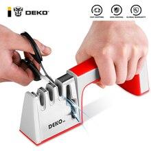 DEKO 4 In 1 Sharpening Scissors Tools Sharpening Non-Slip Diamond Whetstone Stone Stainless Steel Knife Sharpener