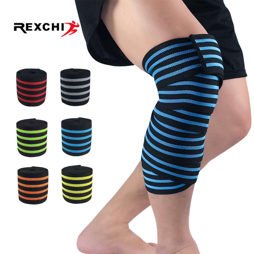 Rexchi 1 Pc Weightlifting Elastic Bandage Kneepads Protective Gear
