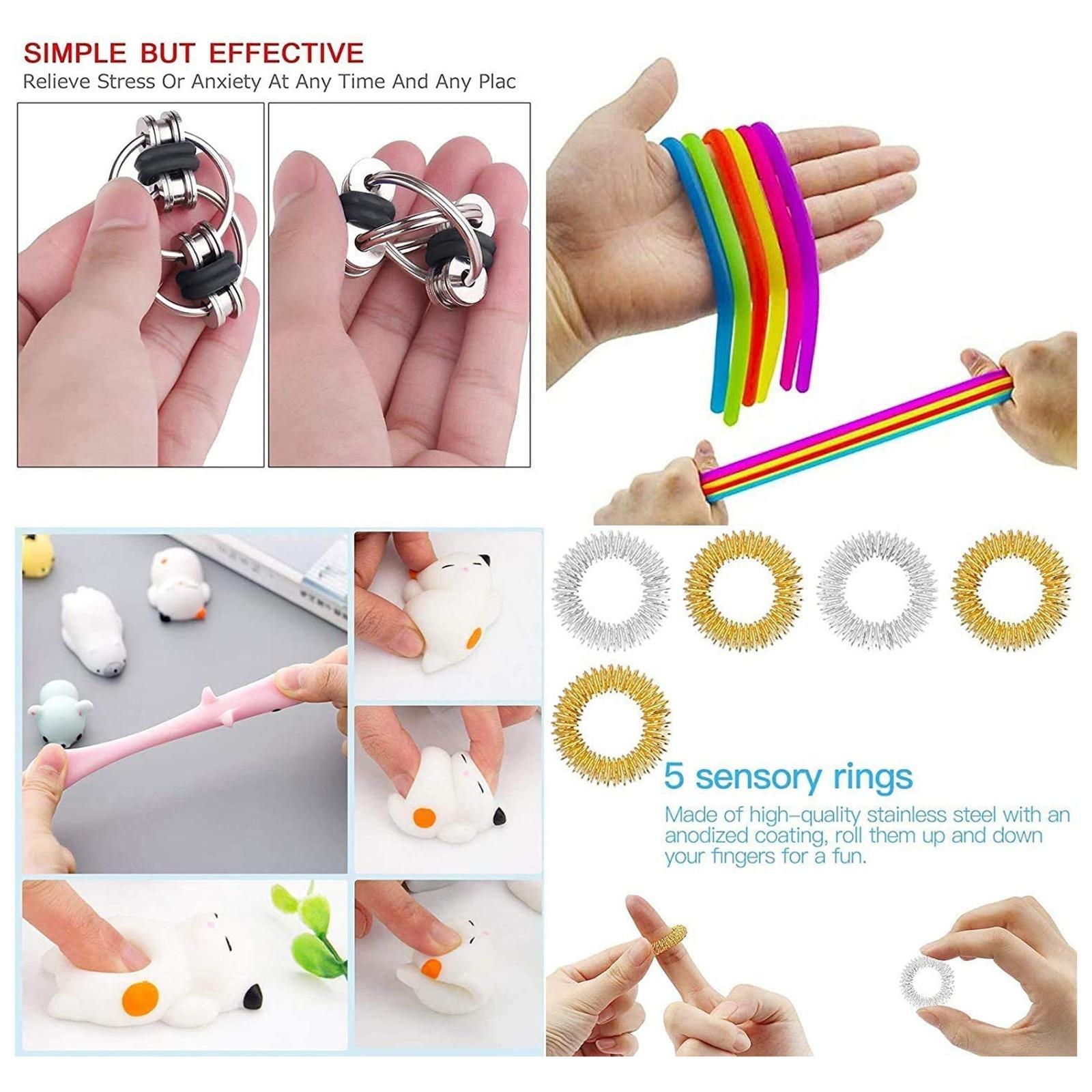25 Pcs Fidges Fidget Toy Set Cheap Sensory Fidget Toys Pack for Kids and Adults Squishy img5