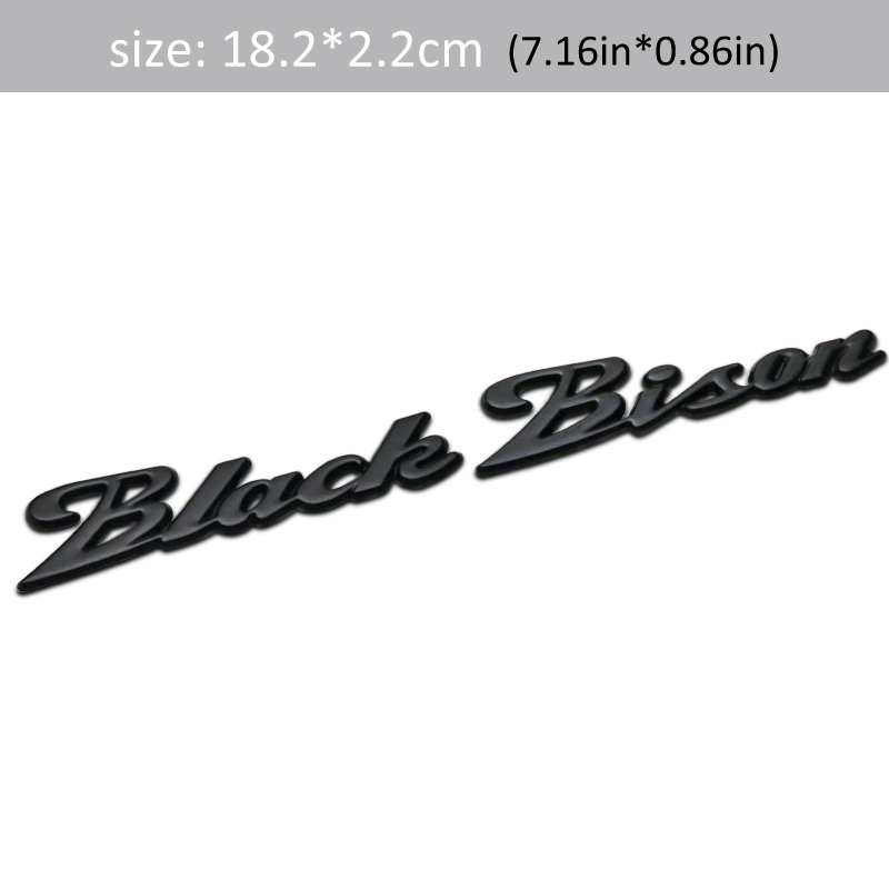 4 Dsycar 1Pcs 3D Metal WALD Black Bison Car Side Fender Rear Trunk Emblem Badge Sticker Decals for Universal Cars Motorcycle Car Styling Decorative Accessories