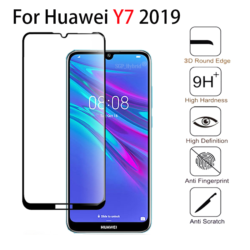 9H For Huawei Y7 2019 Tempered Glass Full Cover For Huawei Y7 2019 Scratch resistant case huawey Y 7 y72019 on for huaweiy7 2019