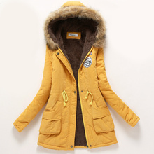 Womens Parka Casual Outwear Autumn Winter Military Hooded Coat Jacket Women Fur Coats Women's Jackets and Coats Women Clothes