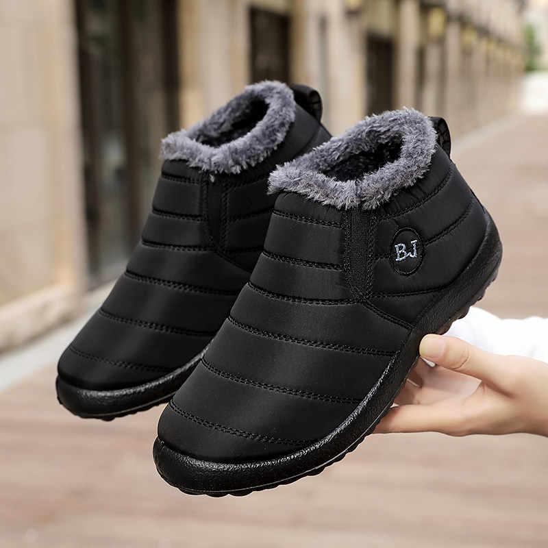 Mùa Đông Nam Thời Trang Nam Giày Chống Nước Mùa Đông Nam Cho Nữ Unisex Trơn Trượt Trên Ấm Nam Giày Zapatillas Hombre