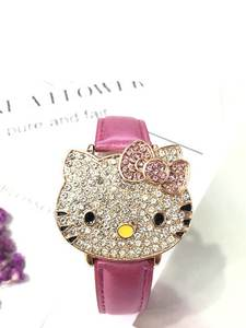 Girl Watch Studded Cartoon Fashion Cute Cat of Kt Belt Flip In-The-Production Specializing