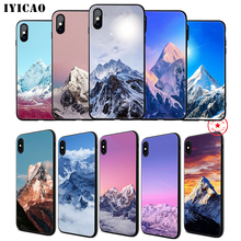 IYICAO Snow Mountain Soft Phone Case for iPhone 11 Pro XR X XS Max 6 6S 7 8 Plus 5 5S SE Silicone TPU