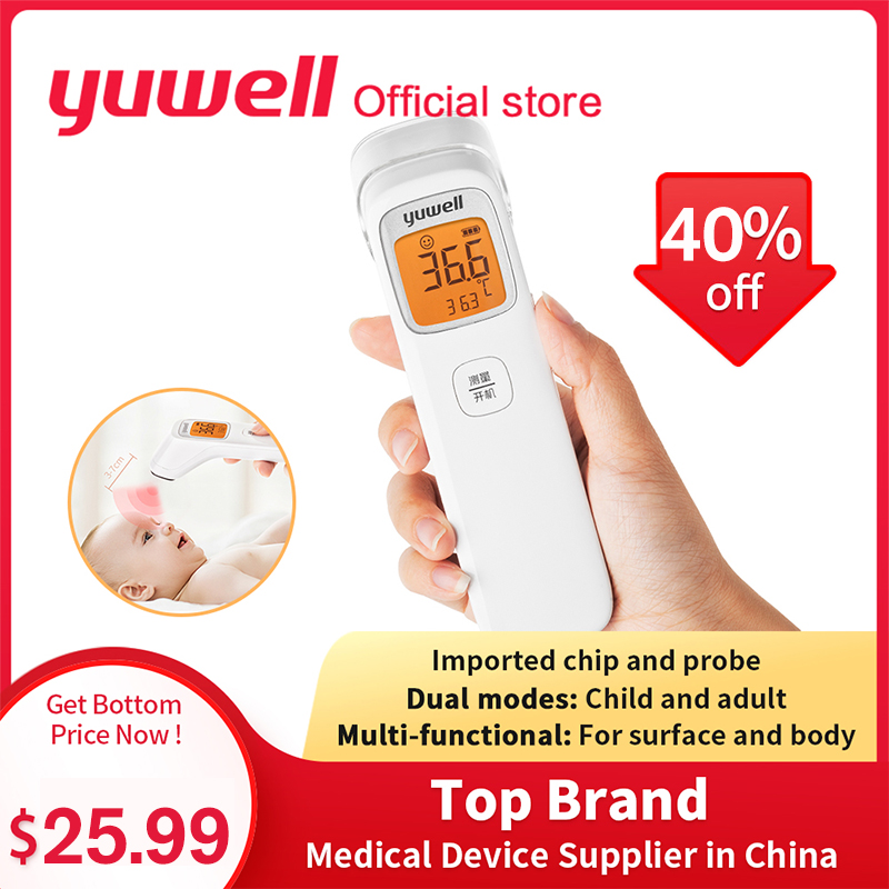 Yuwell YHW-2 LCD Digital Electronic Forehead Thermometer Infrared Thermometer Baby Adult Non Contact Child Body Temperature Gun