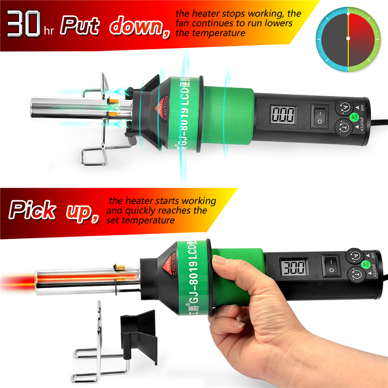 Tools : New Hot Air Gun 8019LCD Constant temperature brushless 450 Degree Adjustable Electronic Heat 220V 110V with Four Nozzle