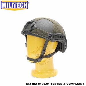 Image 2 - MILITECH balistycznych kask szybkie OD typu Deluxe robak Dial poziom NIJ IIIA 3A wysokie cięcie Twaron kuloodporne kask z 5 lat gwarancji