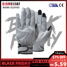 QIANGLEAF למעלה מותג מוצר פיצול אור ריתוך עבודה כפפות ללבוש עמיד בטיחות כפפות לעובדים עור עבודה כפפה 321