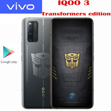 Original VIVO IQOO 3 Transformors edición 5G SmartPhone Snapdragon 865 Android10 6,44 pulgadas Super AMOLED 55W Super cargador de 4440Mah