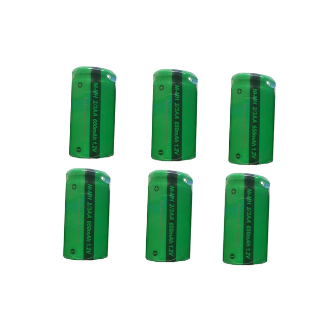 6PCS PKCELL 2/3 AA battery 1.2V NIMH rechargeable batteries flat top indurstry batteries for  shaver toys
